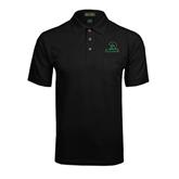 Black Easycare Pique Polo w/ Pocket-Upstate w/Spartan Head