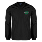 V Neck Black Raglan Windshirt-Upstate U