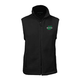 Fleece Full Zip Black Vest-Upstate U