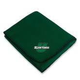 Dark Green Arctic Fleece Blanket-Spartans U