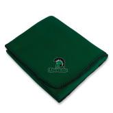Dark Green Arctic Fleece Blanket-Upstate w/Spartan Head