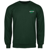 Dark Green Fleece Crew-Upstate U