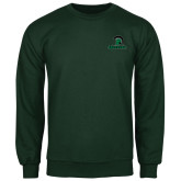 Dark Green Fleece Crew-Upstate w/Spartan Head