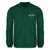 V Neck Dark Green Raglan Windshirt-Spartans U