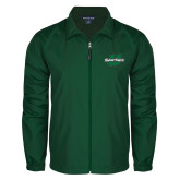 Full Zip Dark Green Wind Jacket-Spartans U