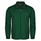 Full Zip Dark Green Wind Jacket-Upstate w/Spartan Head