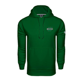 Under Armour Dark Green Performance Sweats Team Hoodie-Upstate U