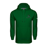 Under Armour Dark Green Performance Sweats Team Hoodie-Upstate w/Spartan Head