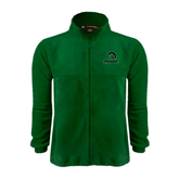 Fleece Full Zip Dark Green Jacket-Upstate w/Spartan Head