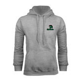 Grey Fleece Hoodie-Upstate w/Spartan Head