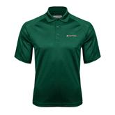 Dark Green Textured Saddle Shoulder Polo-Spartans U