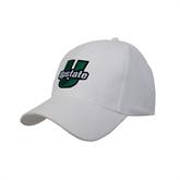 White Heavyweight Twill Pro Style Hat-Upstate U Puffed