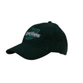 Dark Green Heavyweight Twill Pro Style Hat-Spartans U Puffed