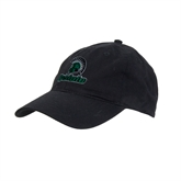 Black Twill Unstructured Low Profile Hat-Upstate w/Spartan