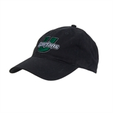 Black Twill Unstructured Low Profile Hat-Spartans U Puffed