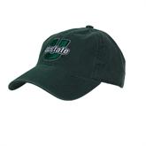Dark Green Twill Unstructured Low Profile Hat-Upstate U Puffed