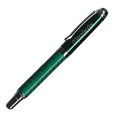 Carbon Fiber Green Rollerball Pen-Upstate Engraved