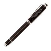 Luna Black Rollerball Pen-Upstate Engraved