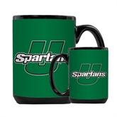 Full Color Black Mug 15oz-Spartans U