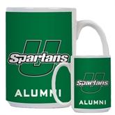 Alumni Full Color White Mug 15oz-Spartans U