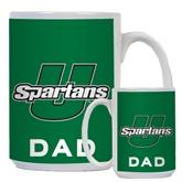 Dad Full Color White Mug 15oz-Spartans U