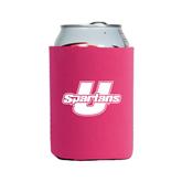 Neoprene Hot Pink Can Holder-Spartans U