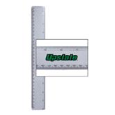 12 Inch White Plastic Ruler-Upstate