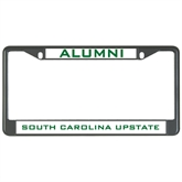 Metal License Plate Frame in Black-Alumni/ South Carolina Upstate