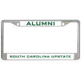 Metal License Plate Frame in Chrome-Alumni/ South Carolina Upstate