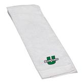 White Golf Towel-Spartans U