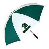 62 Inch Forest Green/White Umbrella-Upstate w/Spartan Head