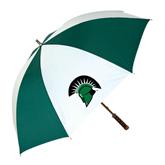 62 Inch Forest Green/White Umbrella-Spartans Head
