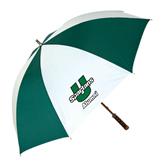 62 Inch Forest Green/White Umbrella-Alumni