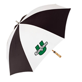 62 Inch Black/White Umbrella-Spartans U