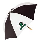 62 Inch Black/White Umbrella-Upstate w/Spartan Head