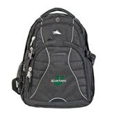 High Sierra Swerve Black Compu Backpack-Spartans U
