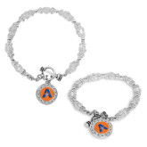 Crystal Jewel Toggle Bracelet with Round Pendant-A with Star