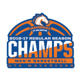 Medium Decal-2016-17 Regular Season Champs - Mens Basketball Half Ball, 8 in wide