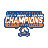 Medium Decal-2016-17 Regular Season Champions - Mens Basketball Stencil, 8 in wide