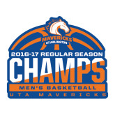 Large Decal-2016-17 Regular Season Champs - Mens Basketball Half Ball, 12 in wide
