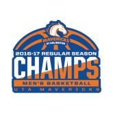 Small Decal-2016-17 Regular Season Champs - Mens Basketball Half Ball, 6 inches wide