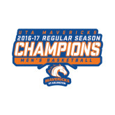 Small Decal-2016-17 Regular Season Champions - Mens Basketball Stencil, 6 inches wide