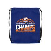 Royal Drawstring Backpack-2016-17 Regular Season Champs - Mens Basketball Half Ball