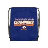Royal Drawstring Backpack-2016-17 Regular Season Champions - Mens Basketball Stencil