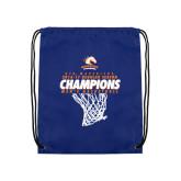 Royal Drawstring Backpack-2016-17 Regular Season Champions - Mens Basketball Hanging Net