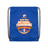 Royal Drawstring Backpack-Movin Mavs NWBA National Champions
