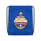 Nylon Royal Drawstring Backpack-Movin Mavs NWBA National Champions