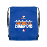 Royal Drawstring Backpack-Movin Mavs National Champions