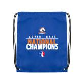 Nylon Royal Drawstring Backpack-Movin Mavs National Champions