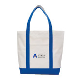 Contender White/Royal Canvas Tote-Secondary Mark